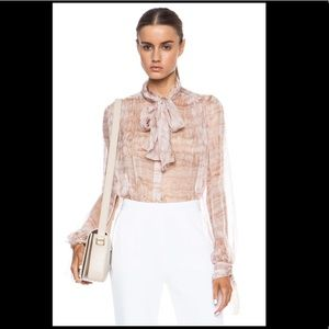 NWT Alexander McQueen Silk Blouse Powder Pink